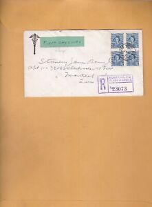 Canada FDC - 1948 - Princess Elizabeth, # 276, Block  ON Registered COVER 23073