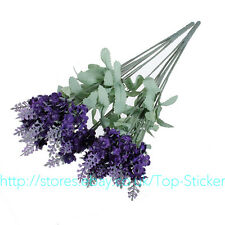 10 head Bouquet Artificial Lavender Silk Flower Home Wedding Garden Floral Decor