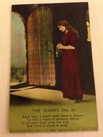"Song Card ""The Rosary"" Religious Bamforth Postcard"