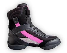 Black and Pink Capezio DS34 Battle Boots split sole dance sneakers - size UK 8.5