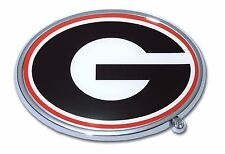"Georgia Bulldogs Chrome Metal Auto Emblem (""G"" with color) NCAA Licensed"
