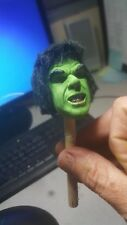 custom   lou hulk  head for 12 inch figure with rooted hair brand new LAST ONES