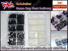 300pcs M2/M3 Nylon screw combination suit white/Black Sets with Assortment case