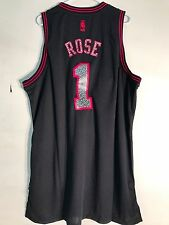 Adidas Swingman NBA Jersey Chicago Bulls Derrick Rose Black Reverse Static sz 2X