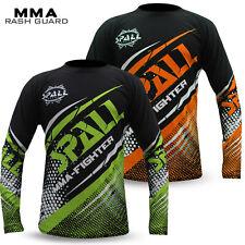 Mens Compression Rash Guard Tops Shirt MMA Base Layer Grappling UFC Boxing