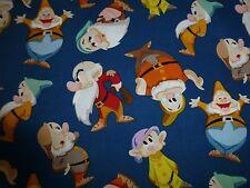 BIANCANEVE & i sette nani in Tessuto Cotone Fat Quarter CRAFT QUILTING Disney