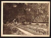 1910s Antique Vintage Peabody Garden Salem Massachusetts Photo Gravure Print