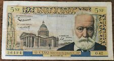 Billets 5 nouveaux francs VICTOR HUGO 4 - 2 - 1960 France O.42