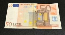 50 EURO Eypo European 2002 Banknote Money Bill Spain V Draghi
