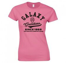 """GUARDIANS OF THE GALAXY """"COLLEGE LOGO"""" LADIES SKINNY FIT T-SHIRT"""