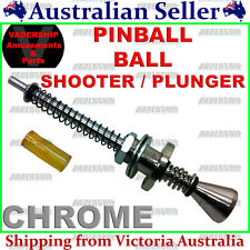 New: Pinball - Ball Shooter / Plunger Assembly - Chrome - Pinball