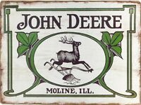 John Deere Moline Tractor Retro Vintage Reproduction Metal Tin Sign 9x12