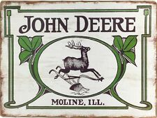 John Deere Moline Tractor Retro Vintage Nostalgic Reproduction Metal Sign 9x12