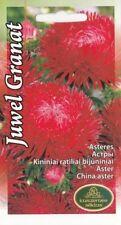 Flower Seeds Aster Juwel Granat Cut Cutting Bedding Garden Pictorial Packet UK