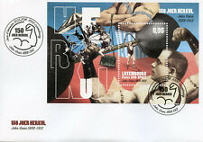 Luxembourg 2018 FDC Herkul John Grun Strongest Man 1v M/S Cover Stamps