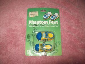 Vintage Phantom Feet Tomy Toys Wind up Walkers New in Package 1980