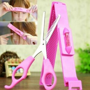 DIY Professional Bang Hair Trim Cutting Clip Comb Hairstyle Typing Tool Scissors