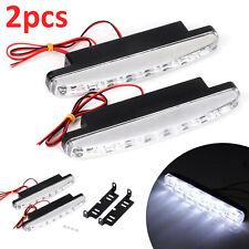 2PCS 8 LED 12V Daytime Running Lights Car Driving DRL Fog Lamp Light Super White
