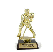 Hockey Trophy, Male- Team- Goal- Desktop Series- Free Lettering