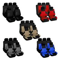 Car Seat Cover Set Tire Track Style Universal Auto Styling Seat Protector $S1