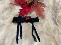 Unbranded black lace GARTER  Waist belt size M