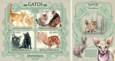 Cats Katzen Pets Domestic Animals Fauna Mozambique MNH stamp set