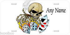 Skull Poker Dice Aluminum Any Name Personalized Novelty Car License Plate