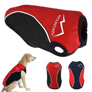 Large Dog Winter Coat Labrador Clothes Reflective Warm Fleece Jacket Vest XL-6XL