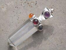 7 quartz baguette de guérison chakra pendentif, mystique,