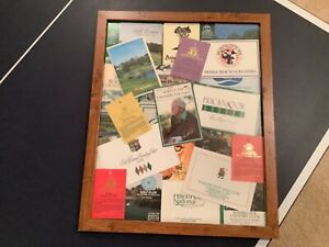 Arnold Palmer Signed In Person 1989 Golf Memorabilia Framed