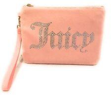 Juicy Couture Black Label Velour CHARGING Wristlet Pink W/ Rhinestones $228 NWT