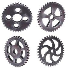 Set 4pcs Large Vintage Industrial Wooden Gear Wall Hanging Decorative Wheel