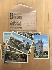 8 Linen HAYNES Salt Lake City Post Cards Unused Mormons