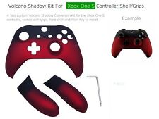 Xbox One S Red Velvet Soft Microsoft Controller Grip/s Volcano Shadow Shell KIT