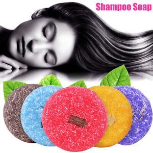 Natural Handmade Herbal Shampoo Soap Nourishes Dandruff Hair Cleaning Care Soap