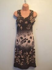 Marc Cain knitted floral 80% Virgin Wool bodycon dress size  N1 UK 8 Good Con