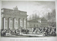 Entrée des français à Berlin défaite Prusse 1806 Napoléon Bonaparte 1815 Swebach