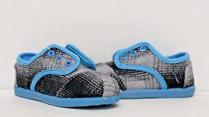 Toms Tiny Cordones Blue Pop Plaid Shoes 020118D12  BLUPO Toddlers size 6.5~11