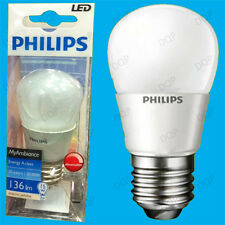 4x 3W Philips Dimmable Top Quality LED Golf Light Bulb, ES, E27 Screw Lamp Globe