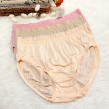 5pcs/lot Women Knitted briefs mulberry silk pant Hypertrophy Maternity underwear