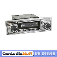 Retrosound Laguna Car Classic Spindle Style Radio with Aux In RC900 All Chrome