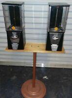 Oak Vista 10 Cent Vintage Bulk Vending Machines On Stand
