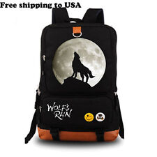 """Wolf's Rain Large Large Capacity Schoolbag Travel Backpack Canvas Rucksack 18"""":S"""