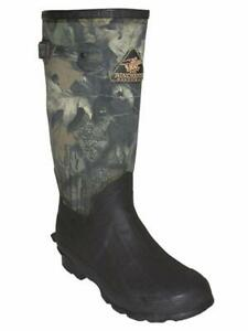 Proline W7063-8 Mens Waterproof Rubber Canvas Boots Break Up Camo Size 8 15967