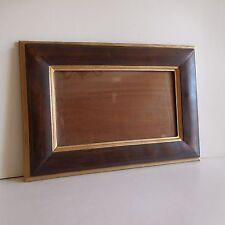 Cadre chêne massif vitre verre solid oak frame vintage glass art-deco France
