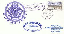 NAVE DA CROCIERA francese Mondo Rinascimento un Navi inseriti nella cache Plain sostenuta CARD