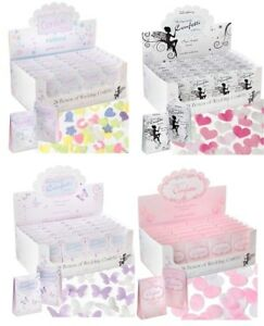 24 BOXES WEDDING CONFETTI THROWING BIODEGRADABLE SCATTER PAPER SHAPES DISPLAY