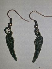 Bronze Angel Wing Hook Earrings