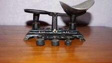 Antique Cast Iron Rare Salesman Sample Children's Kid Toy Scale 3 Weights & Tray