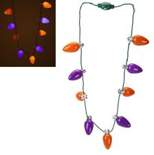 Halloween Battery Operated Light Up Bulb Necklace Fancy Dress Party Costume Prop